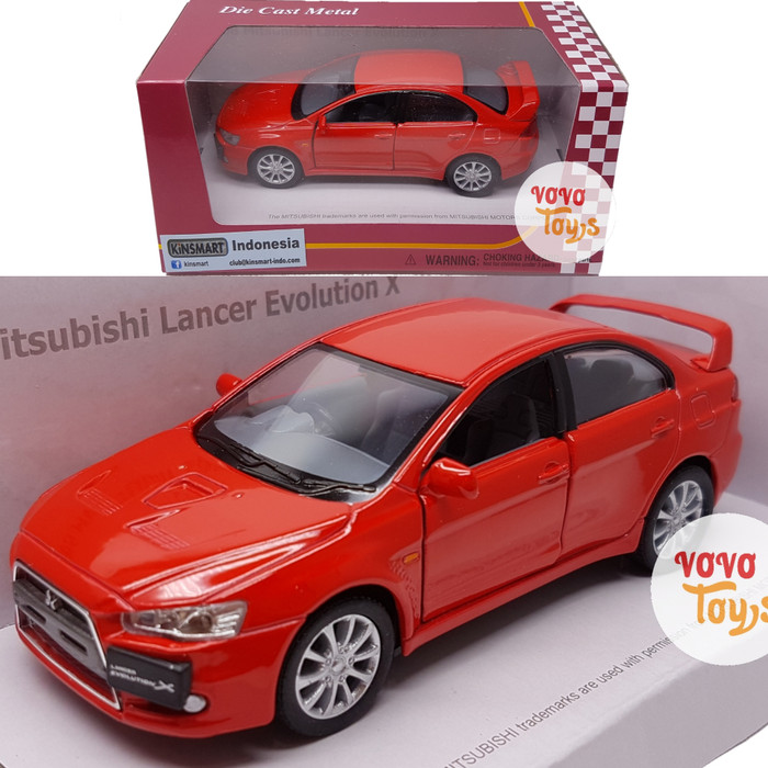harga Kinsmart miniatur mobil mitsubishi lancer evolution x red Tokopedia.com