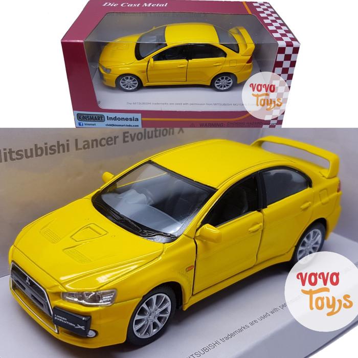 harga Kinsmart miniatur mobil mitsubishi lancer evolution x yellow Tokopedia.com