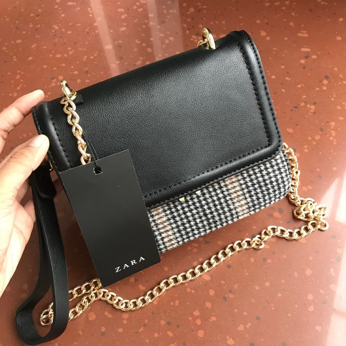 805d7f34 Jual ZARA CONTRASTING CROSSBODY BAG CHAIN STRAP WITH SHORT STRAP BAG ORIGIN  - Kota Surakarta - AlfaZara | Tokopedia