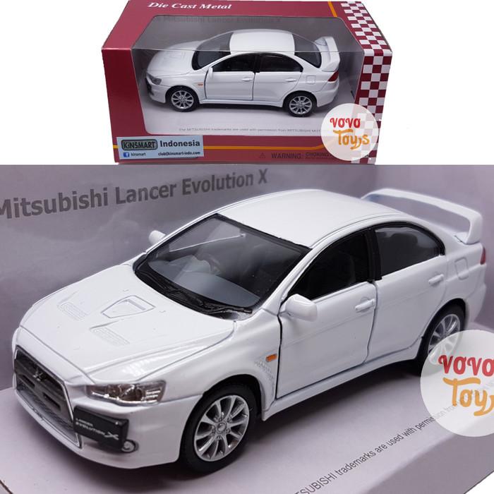harga Kinsmart miniatur mobil mitsubishi lancer evolution x white Tokopedia.com