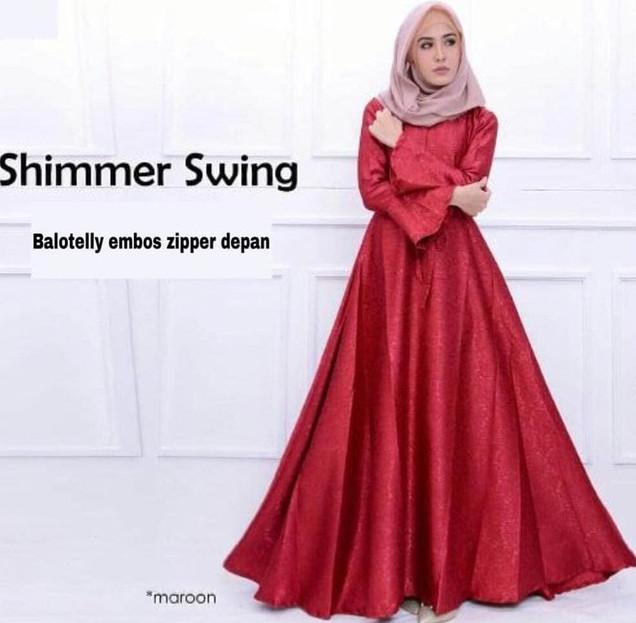 Jual Maxi Gamis Baju Pesta Polos Dress Longdress Maxy Mewah Glamor
