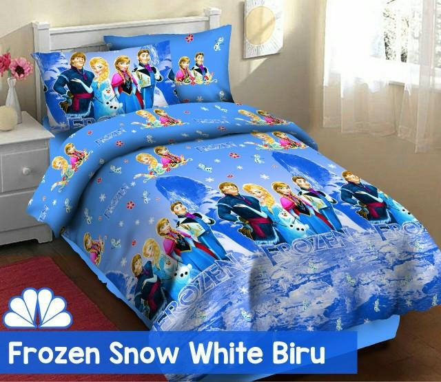 harga Sprei katun fortuna frozen snow white biru ukuran 120x200 Tokopedia.com