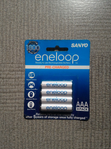 Baterai Rechargeable Sanyo Eneloop AAA 4 buah 800 MAH Original