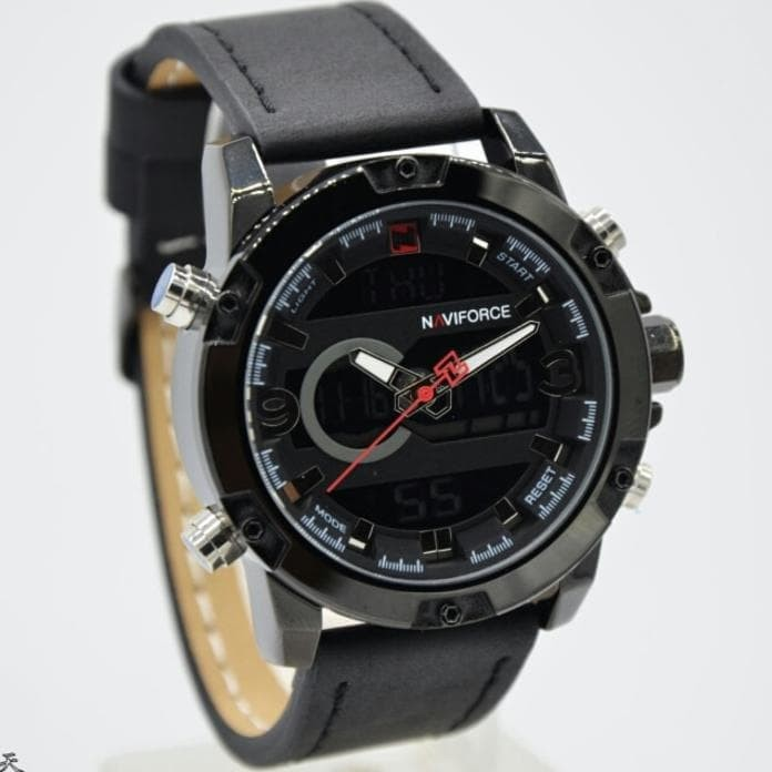 JAM TANGAN PRIA NAVIFORCE NF-9097M ORIGINAL LEATHER NO.7 PLN01