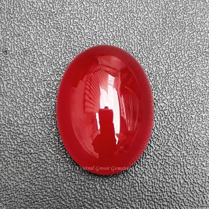 Foto Produk BATU AKIK NATURAL RED BARON GRADE AAA 20x14x7mm dari Central Grosir Gemstone