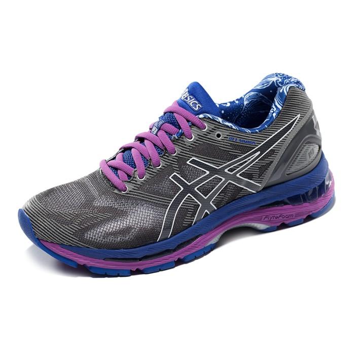 Sepatu lari running asics gel nimbus 19 grey ungu original murah harga ... 86ac685912