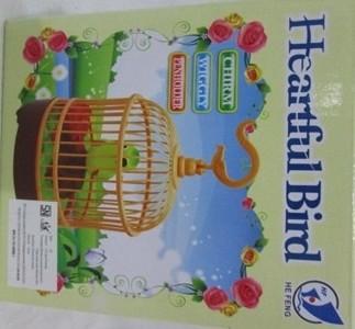 harga Mainan burung sangkar medium heartful bird bunyi gerak lucu Tokopedia.com
