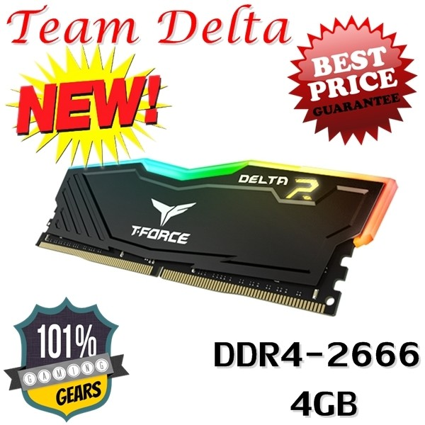 harga Team delta rgb 4gb ddr4 2666 1.2v tf3d44g2666hc15b01 ram pc black Tokopedia.com
