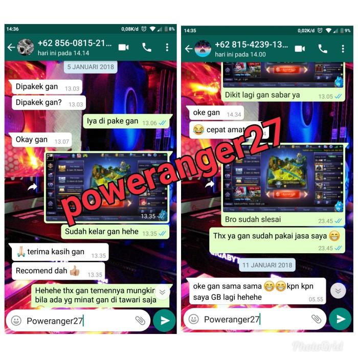 Jual Jual Jasa Push Akun Ml Mobile Legend Murah Power Ranger27