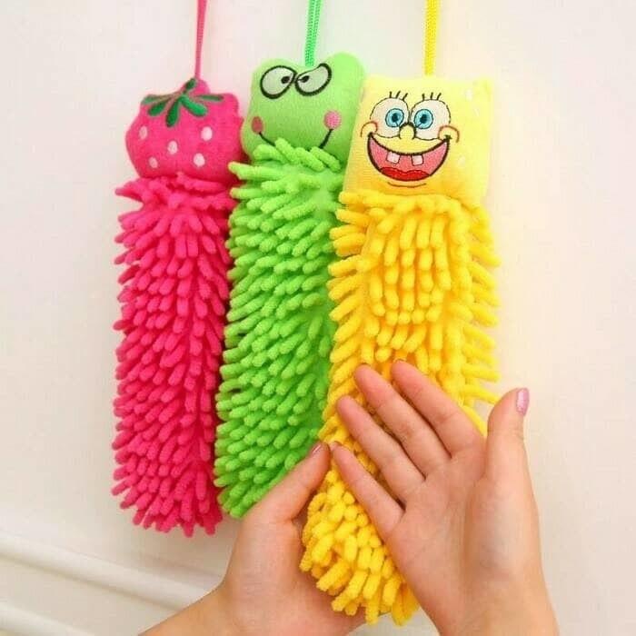 Hand Towel Microfiber - Lap Tangan Karakter - Handuk Tangan - Serbet