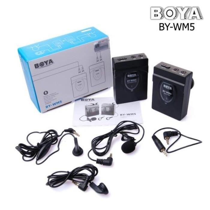 Wireless microphone boya BY- WM5 DSLR Kamera Canon nikon pentax sony 3
