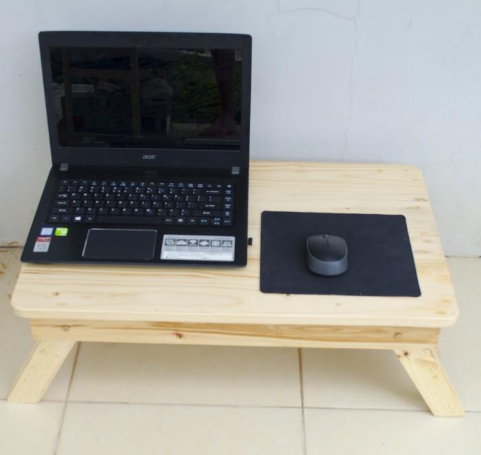 harga Meja lipat laptop kokoh kayu jati belanda untuk lesehan 65x40 Tokopedia.com