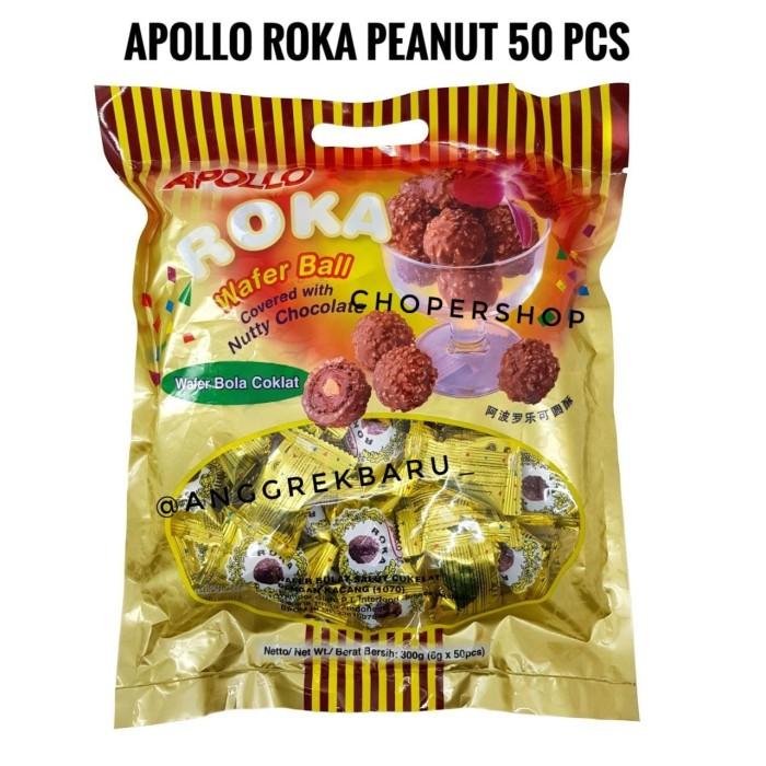 harga Apollo roka waferball peanut 50pcs Tokopedia.com
