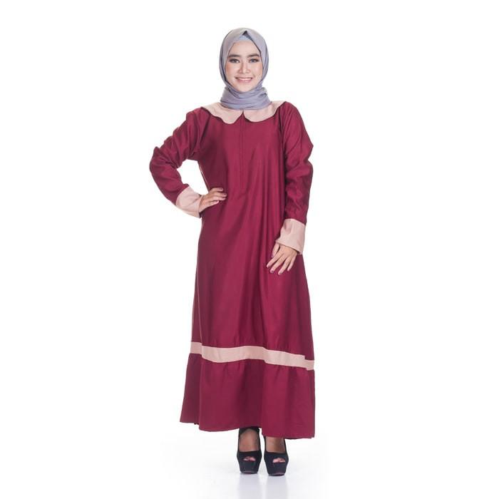 Hasanah Gamis Syari Elsa Tosca Gamis Beli Harga Murah Source · Gamis Wanita Baju Syari BELLA DRESS MAROON Busana Muslim