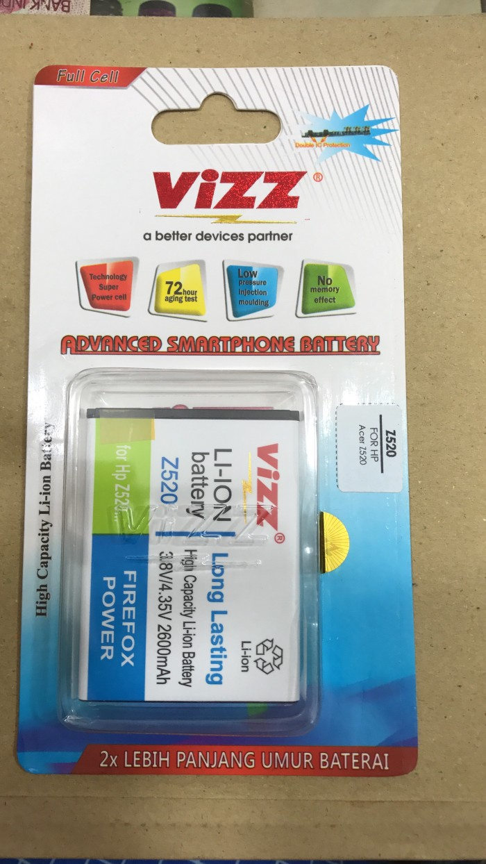 harga Acer z520 battery / baterai vizz double power acer z520 Tokopedia.com