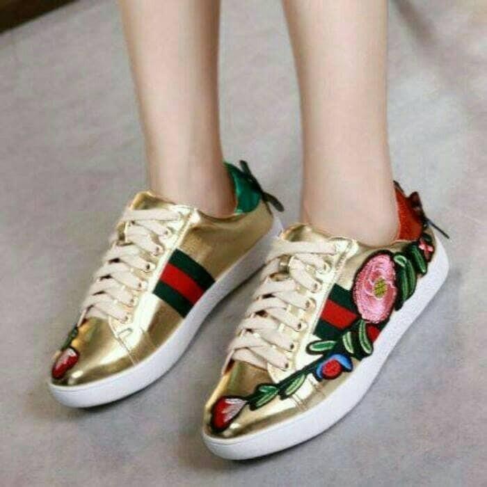 Sale Shoes E3t1 Sepatu Kets Sneakers Wanita Murah Kyf35  Lokal Import L3l01