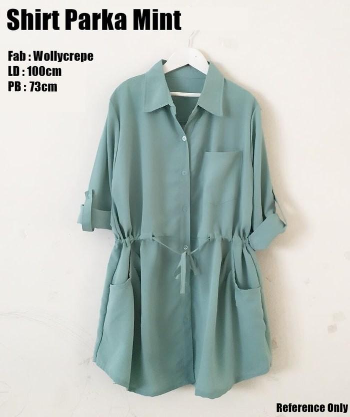 Foto Produk Shirt Parka Mint tosca / Dress Kemeja Tali Toska dari Pinkable Online Shop