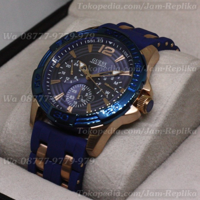 Jam Tangan Pria Guess Mens Oasis w0366g4 Blue Like Original