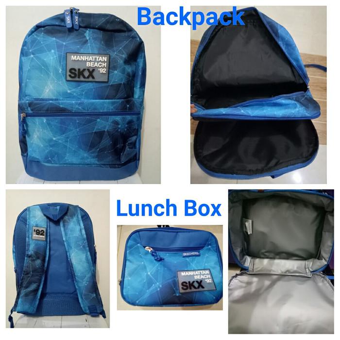 Jual Tas Ransel Anak Cowok Original Skechers +Lunchbox - Biru - FYO ... 61de7959d4