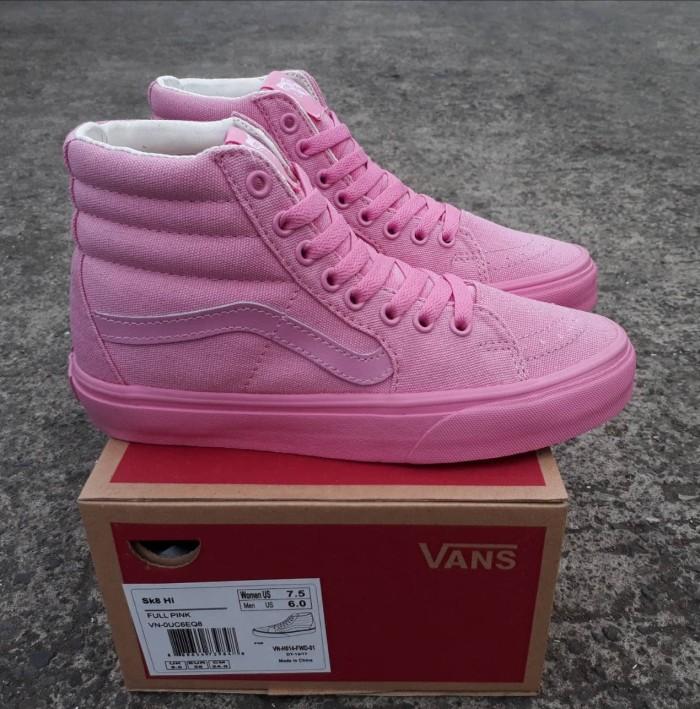 Jual Sepatu Vans Sk8 HI Full Pink Wafle DT BNIB Premium Quality ... ef5b0b457e