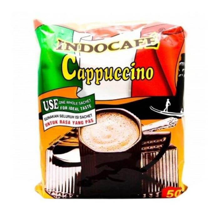 Indocafe cappucino kopi [25 g/ 50 sachet]