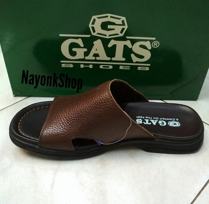 sandal kulit GATS OR 611. Brown. original
