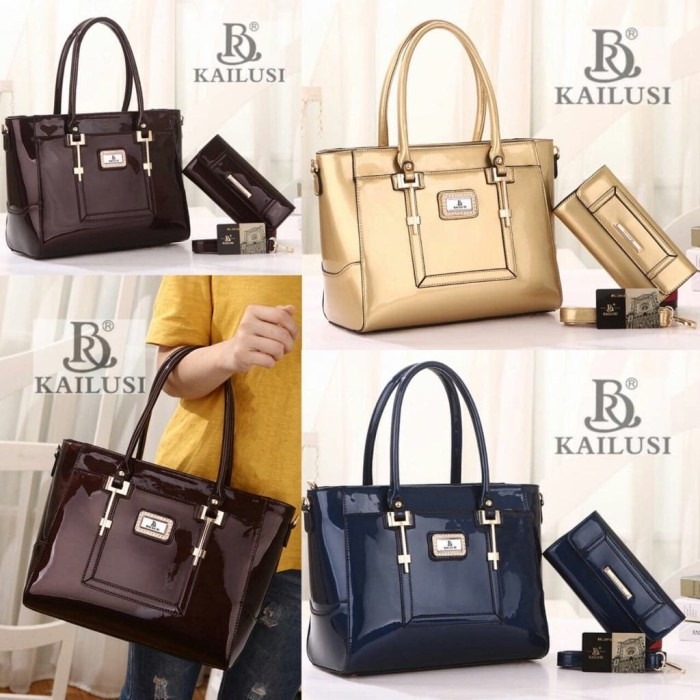 harga Fashion kailusi glossy set dompet | tas wanita | tas branded Tokopedia.com