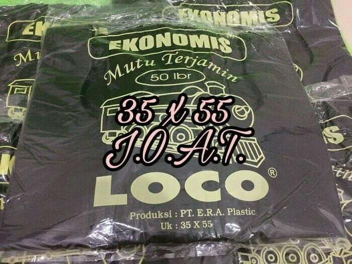 harga 35 x 55 kantong plastik kresek loco hitam tipis murah harga ekonomis Tokopedia.com