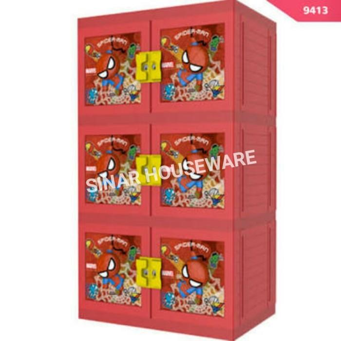 harga Laci / lemari plastik / lemari pakaian naiba susun 3 spiderman Tokopedia.com