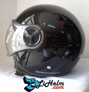 Foto Produk helm YR CARGLOSS GHOTIC DEEP BLACK dari BLiHelm