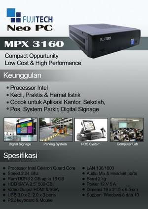 harga Fujitech mpx 3160 Tokopedia.com