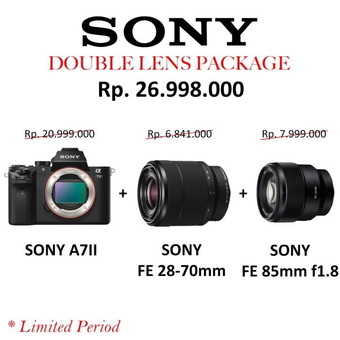 harga Sony a7ii / a72 / a7 mark ii + fe 28-70mm + fe 85mm f1.8 / double lens Tokopedia.com