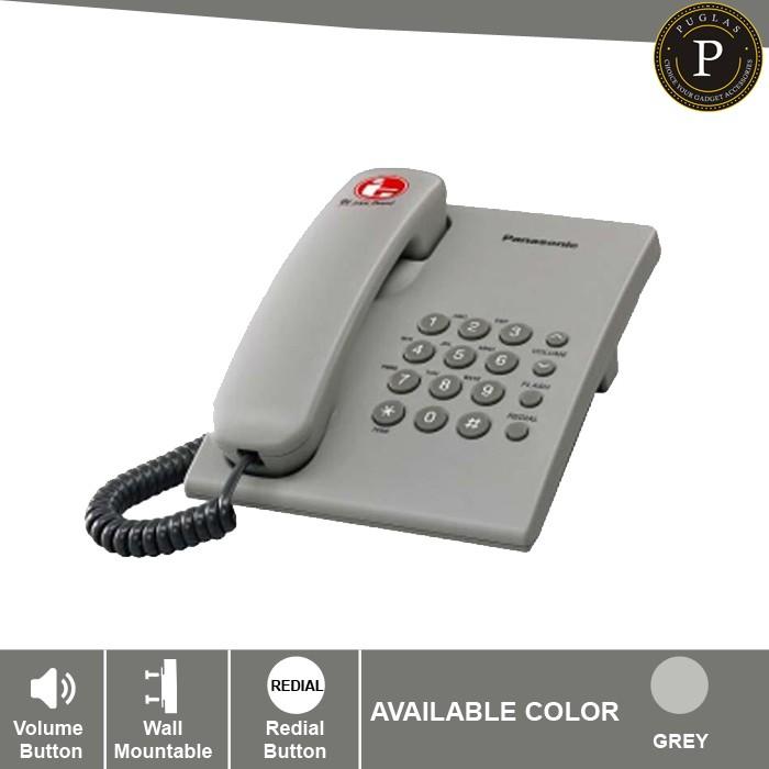 harga Telepon panasonic kx-ts505mx - grey / telephone kantor rumah Tokopedia.com