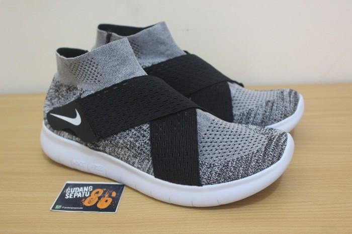 Sepatu Nike Rn Free Motion Flyknit Oreo Premium Quality