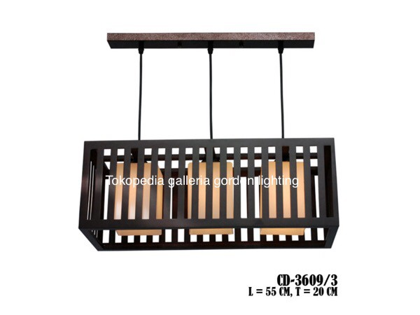 harga Lampu gantung hias dekorasi meja makan minimalis-ruang keluarga 3609/3 Tokopedia.com