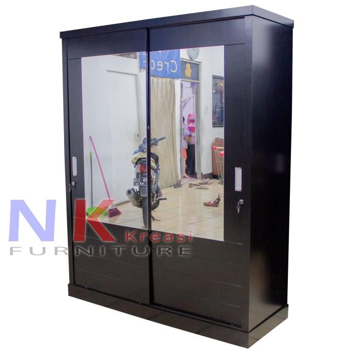 harga Lemari pakaian 2 pintu jumbo lemari baju sliding door ( pintu geser ) Tokopedia.com