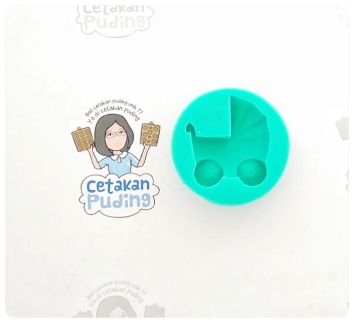 1 pc cetakan puding silikon bentuk stroller baby