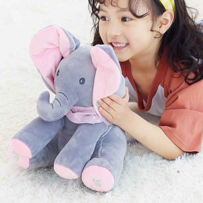 Foto Produk Peek a Boo Boneka Gajah Bernyanyi Dan Cilukba | Hadiah Ulang Tahun dari Meliyana Store