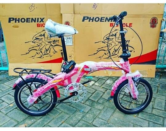 harga Sepeda lipat anak phoenix 16  inchi bukan bmx united polygon murah Tokopedia.com