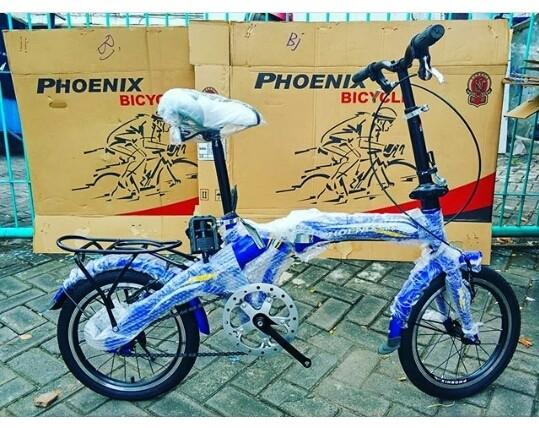 harga Sepeda anak lipat phoenix 16  inchi bkn bmx united polygon murah gan Tokopedia.com