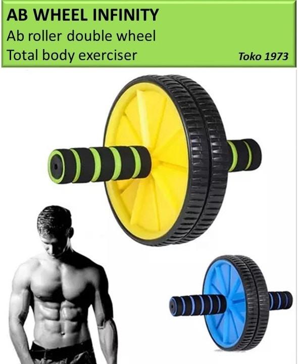 harga Ab wheel infinity - ab roller double wheel  / alat sit up / alat gym Tokopedia.com