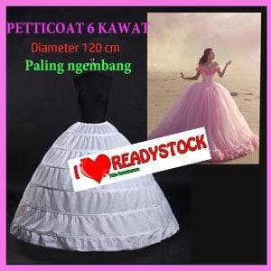 harga Petticoat dengan 6 kawat dengan hasil rok pengantin lebih kembang lagi Tokopedia.com