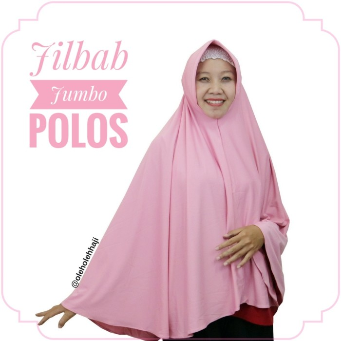 harga Jilbab hijab khimar bergo jumbo syar'i souvenir oleh oleh haji umroh Tokopedia.com