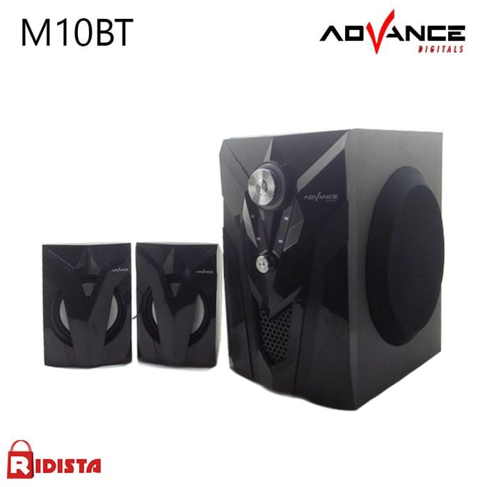 harga Speaker advance m10 bt - t394 speaker multimedia speaker aktif hitam Tokopedia.com