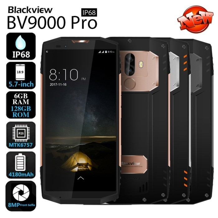 harga Blackview bv9000 pro 128gb ram 6gb. hp tahan banting & air. hp outdoor Tokopedia.com