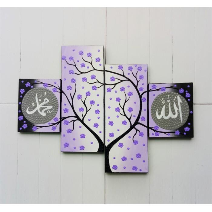 harga Lukisan dot aborigin panel kaligrafi sakura ungu Tokopedia.com