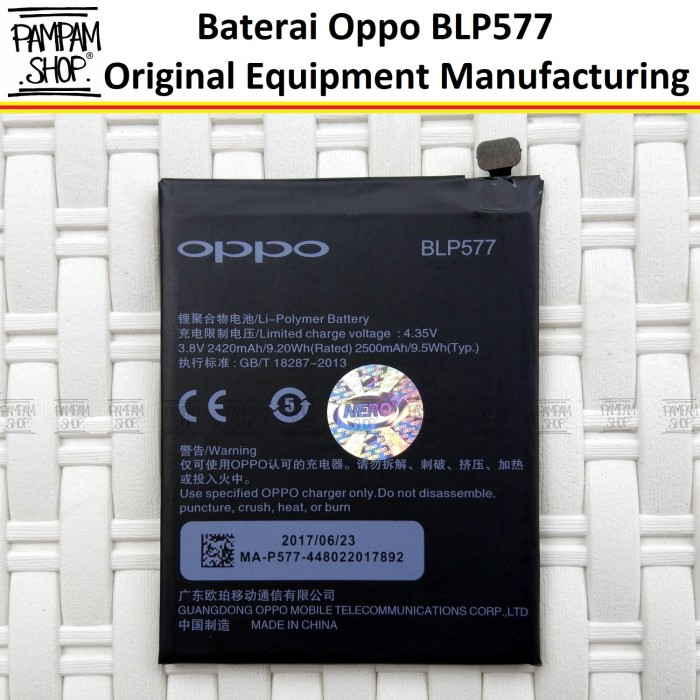 harga Baterai handphone oppo mirror 5 r3 a51 blp577 original batre blp 577 Tokopedia.com