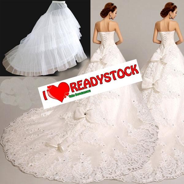 harga Petticoat wedding tail/ petticoat ekor untuk pengantin pinggang karet Tokopedia.com