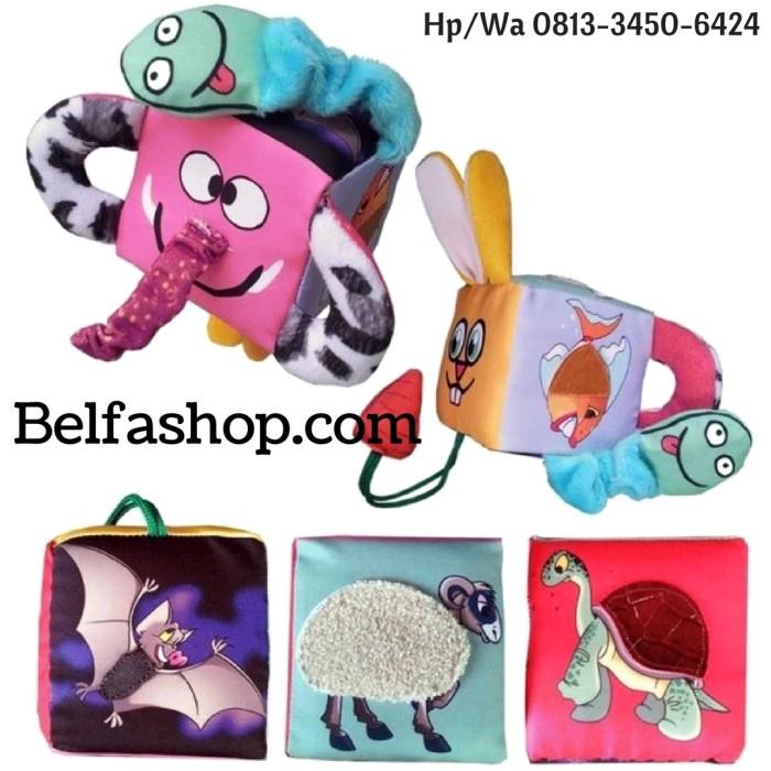 harga Buku bantal kain softbook bayi kubus meraba mengenal binatang Tokopedia.com