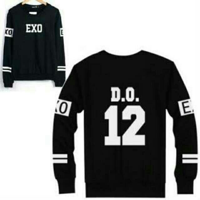 harga Baju pakaian jaket wanita kpop sweater d o exo hitam Tokopedia.com